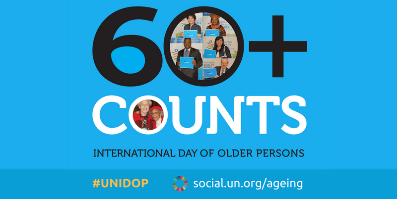 sixty counts: International Day of Older Persons age equality