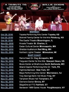 Big Head Blues Club 2016 Tour Schedule