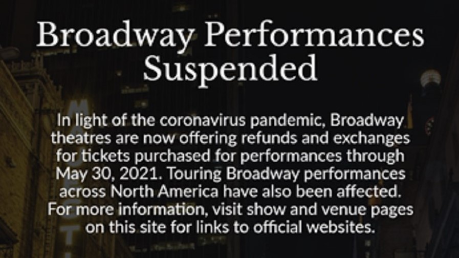 Broadway shut down extends
