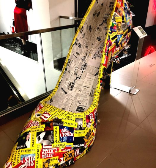 Artsy, hip giant-size shoe exhibit sparks Bloomies