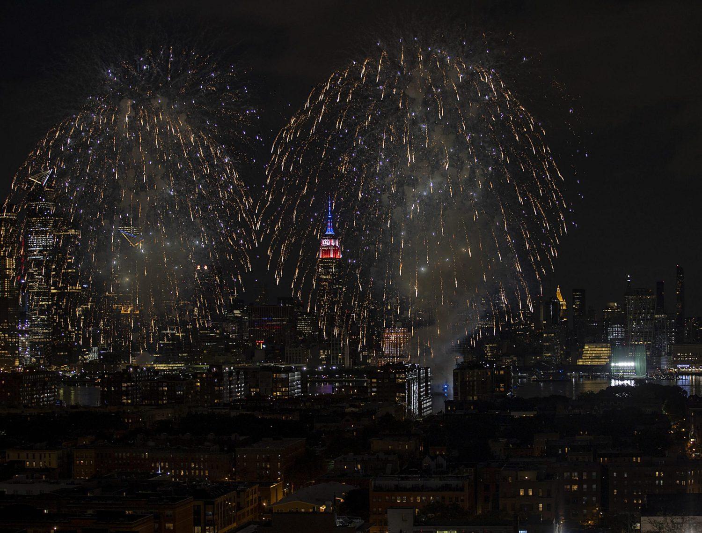 July Celebrations sparks