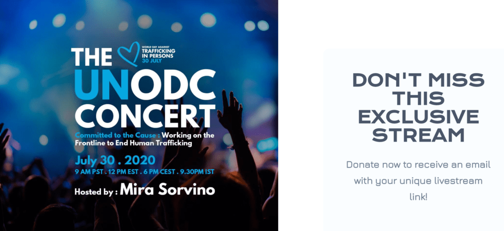 Virtual concerts for a cause