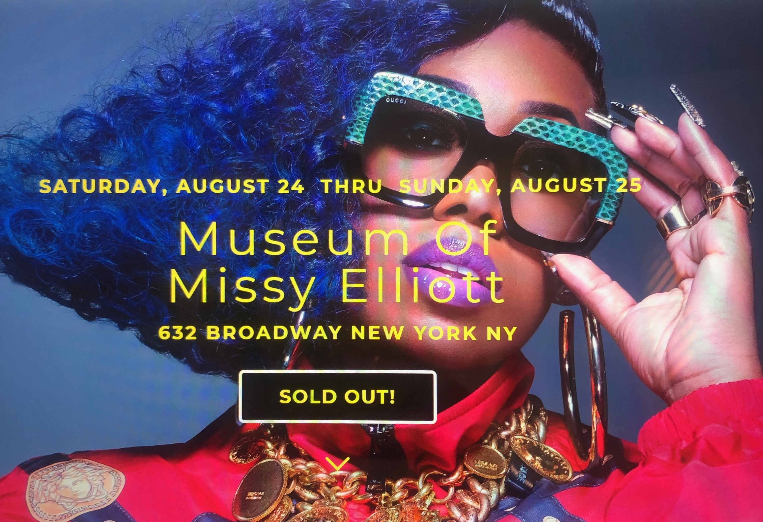 here comes the pop up museum of Missy Elliott