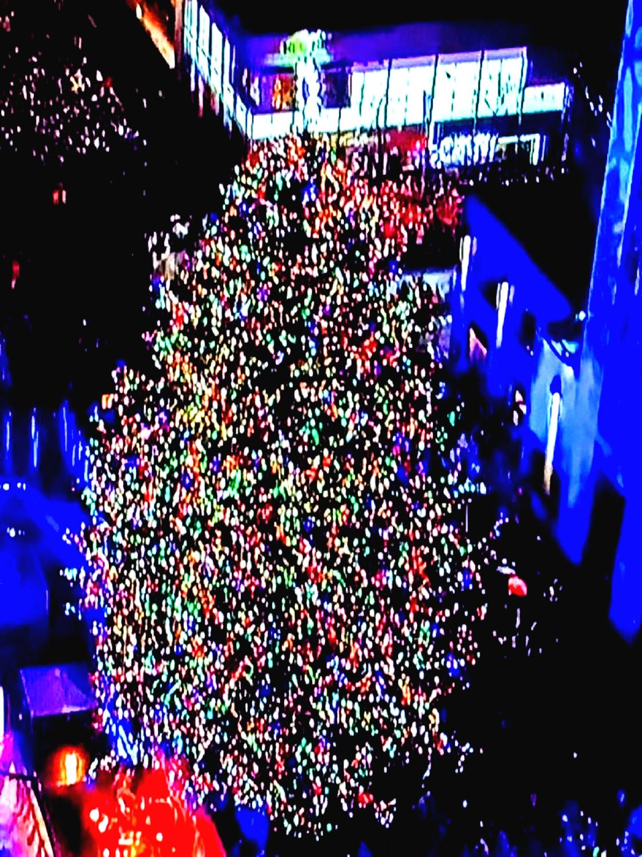 Rockefeller tree lighting sparks holiday season
