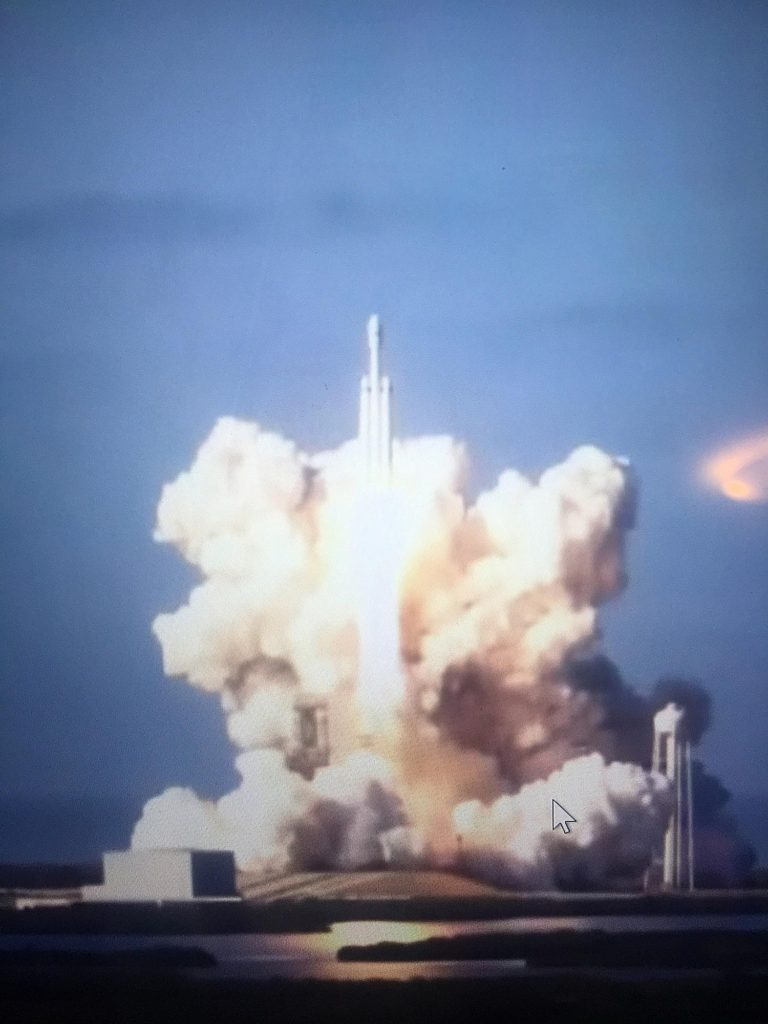 spacex falcon heavy launch socially sparked world